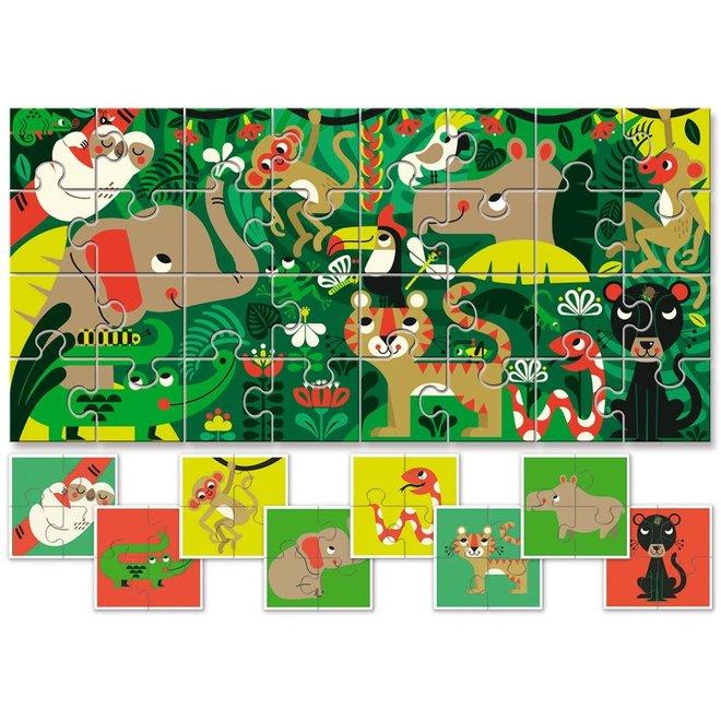 LUDATICCA - Eerste Puzzel -  De Jungle ( 40stuks) 2+