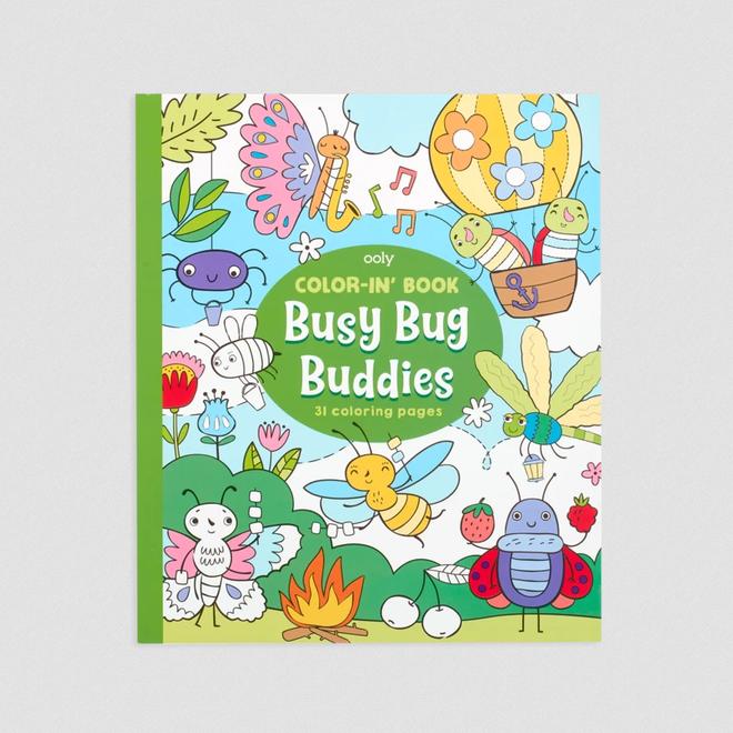 OOLY - Kleurboeken - Drukke Insecten Vriendjes