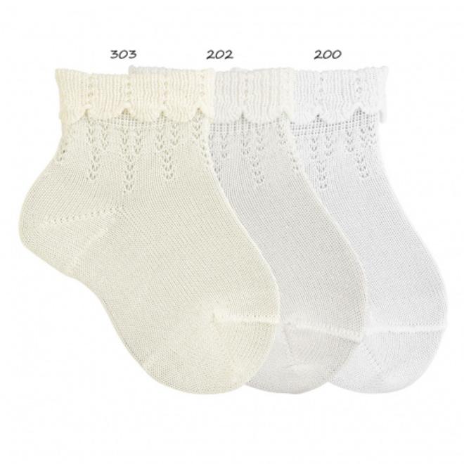CONDOR - Enkel sokken met fantasie randje