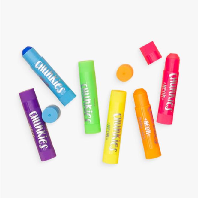 OOLY - Creatief met Verf - Chunkies Set Neon (6stuks)