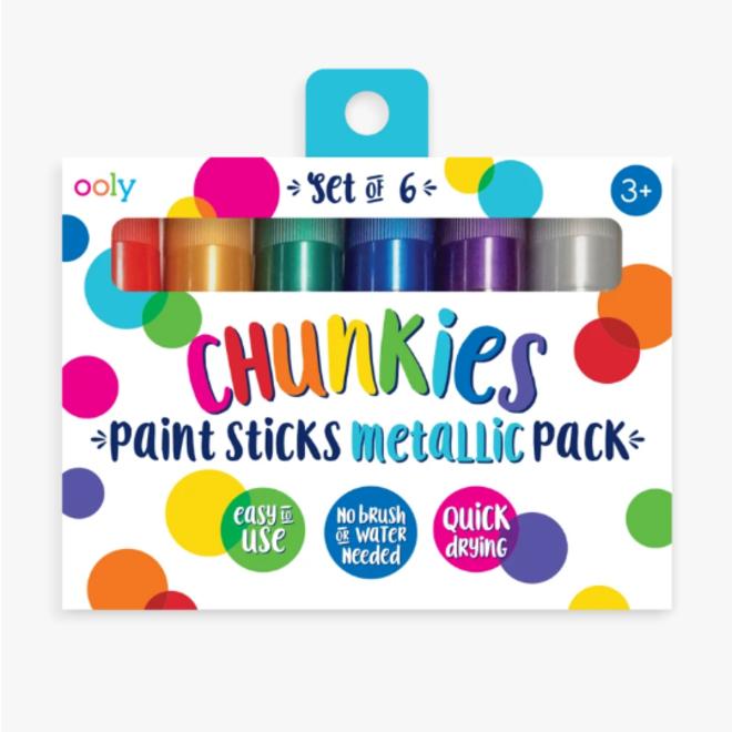 OOLY - Creatief met Verf - Chunkies Set Metallic (6stuks)