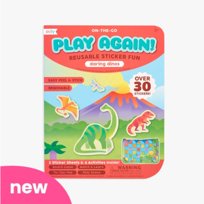 OOLY - Stickerboek - Play Again Dino