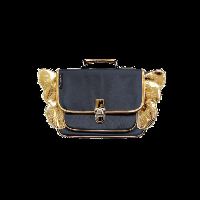 CARAMEL&CIE - Kleuter Boekentas -  Marine blauw met gouden vleugels