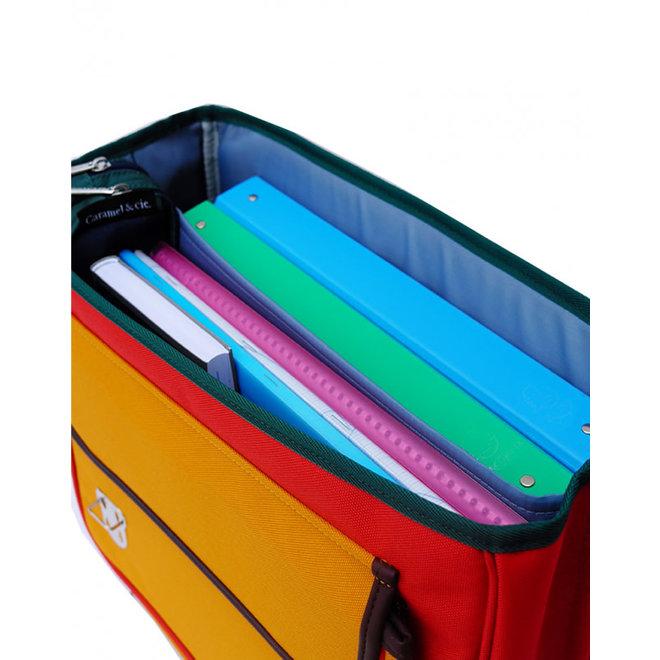 CARAMEL&CIE - Boekentas - Colorblock Verte (Maxi)