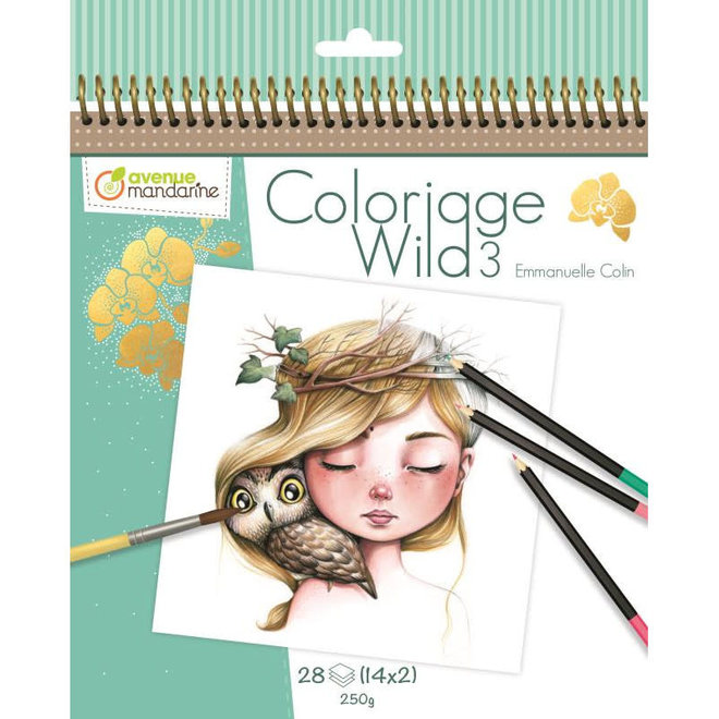 AVENUE MANDARINE - Kleurboek - Wild 3 ( Illustratie Emmanuelle Colin)