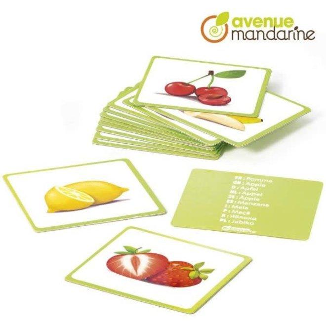 AVENUE MANDARINE - Educatief - Plaatjes Fruit in 10 talen