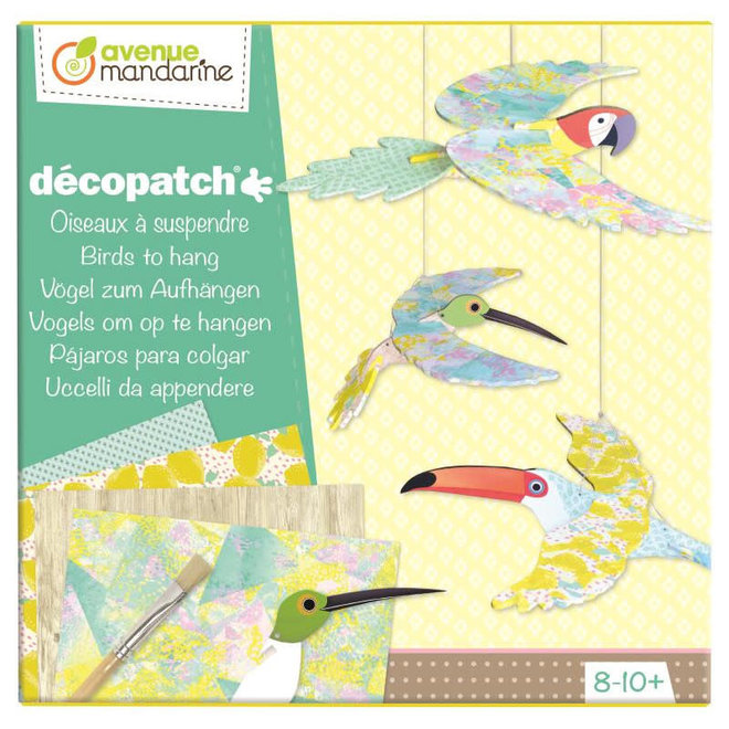 AVENUE MANDARINE - Decopatch - Vogels 8+
