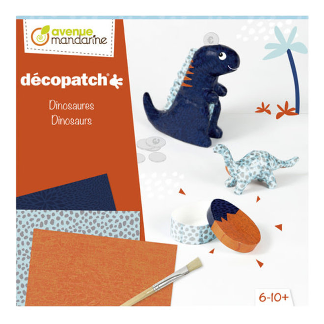 AVENUE MANDARINE - Decopatch - Dinosaurus 8+