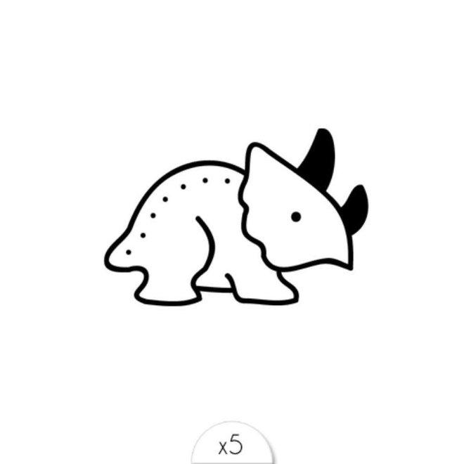 SIOOU - Tattoo's - Dino (5stuks)