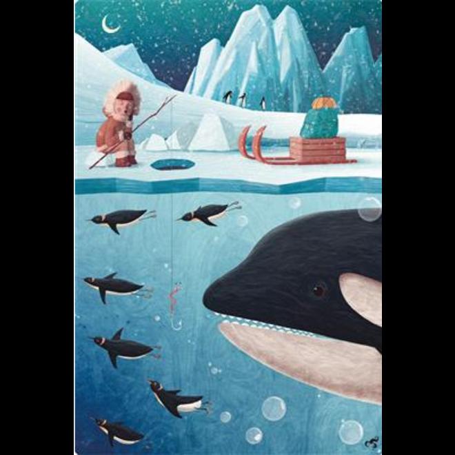 LUDATICCA - Puzzel - leven op het ijs ( 108stuks) 5-7 jaar