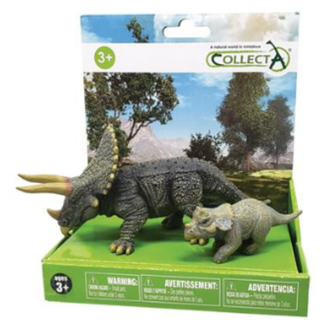 COLLECTA- Dinosaurus-gift set- Triceratops & Baby