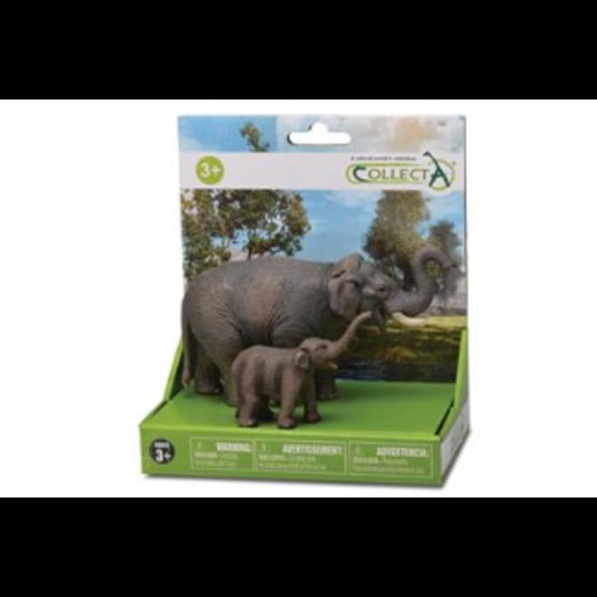 COLLECTA - Wilde dieren- gift set- olifant &baby