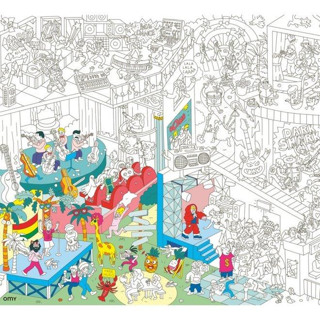 OMY - Kleurposter - Music (100x70cm)