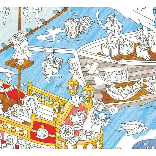OMY - Kleurposter - Pirates (100x70cm)