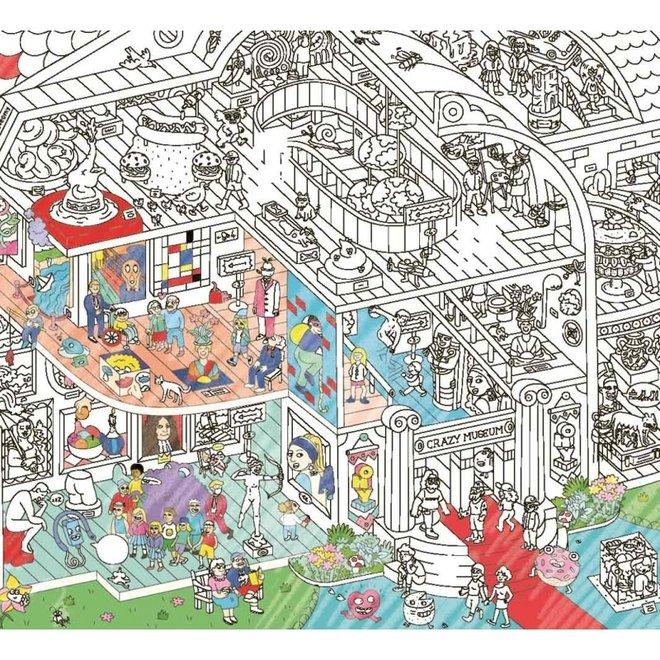 OMY - Kleurposter - Crazy Museum (100x70cm)