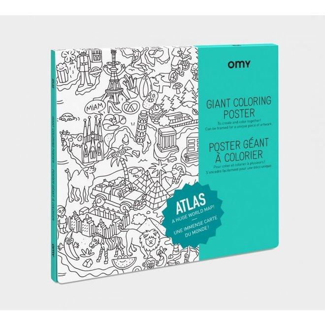 OMY - Kleurposter - Atlas (100x70cm)