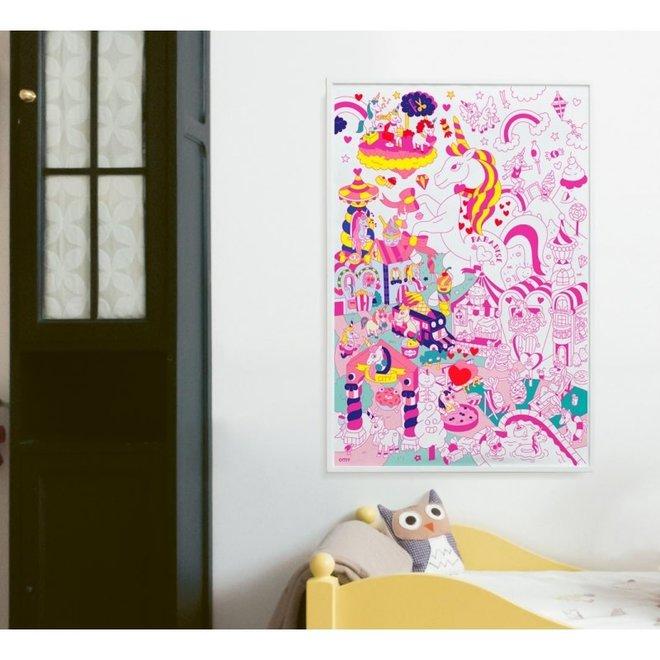 OMY - Kleurposter - Lily (100x70cm)
