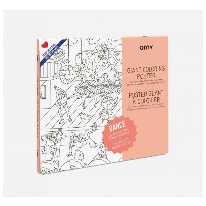OMY -  Kleurposter - Dance (100x70cm)