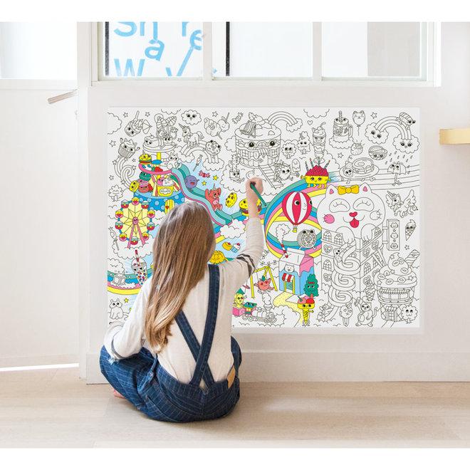 OMY -  Kleurposter - Kawaii (100x70cm)