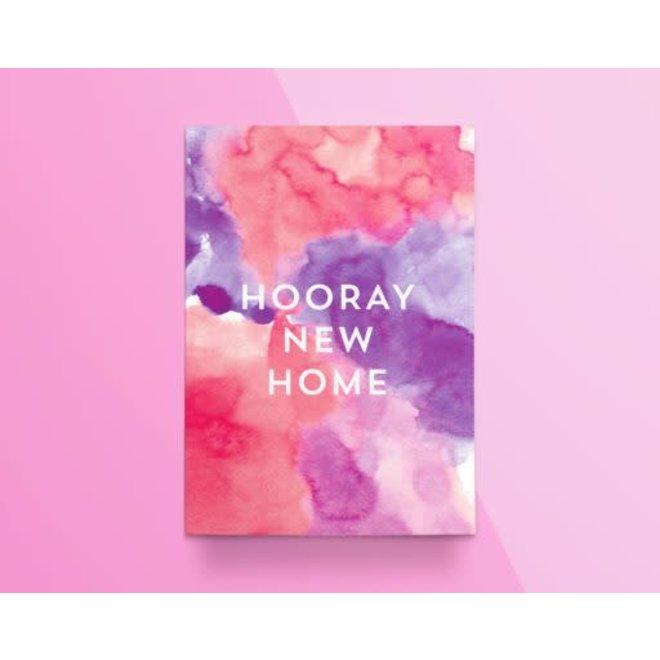 """KATHINGS  - Postkaart - Colors """"Hooray new home"""""""