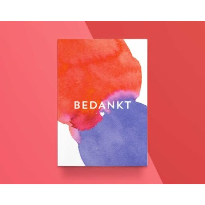 """KATHINGS - Postkaart - Colors """"Bedankt"""""""