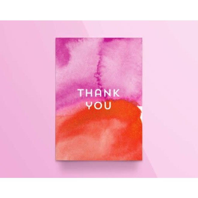 "KATHINGS  - Postkaart - Colors ""Thank you"""