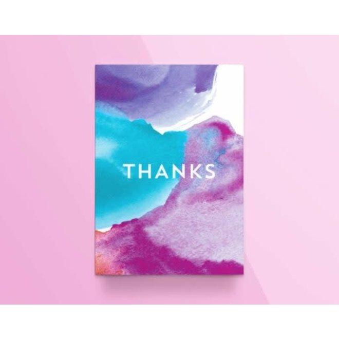 """KATHINGS  - Postkaart - Colors """"Thanks"""""""