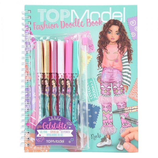 DEPESCHE - doodle boek - Topmodel ( incl gelpennen)