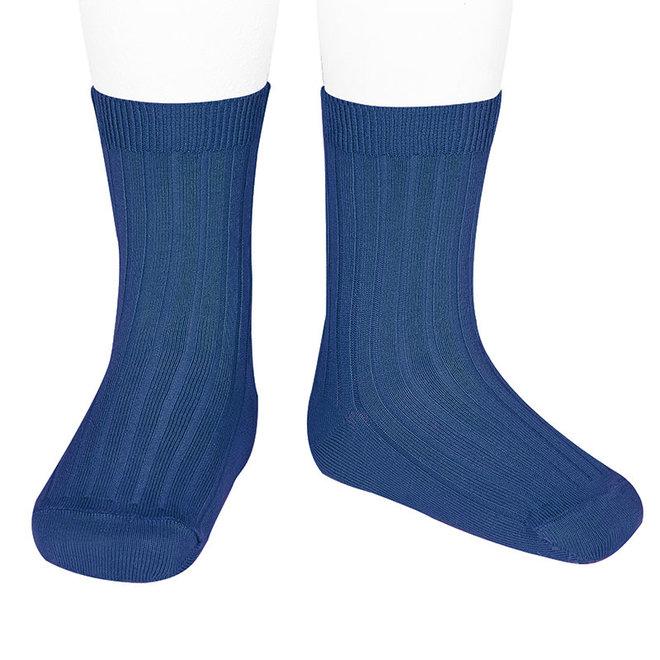 CONDOR - Korte Sokken - Indigo Blue (473)