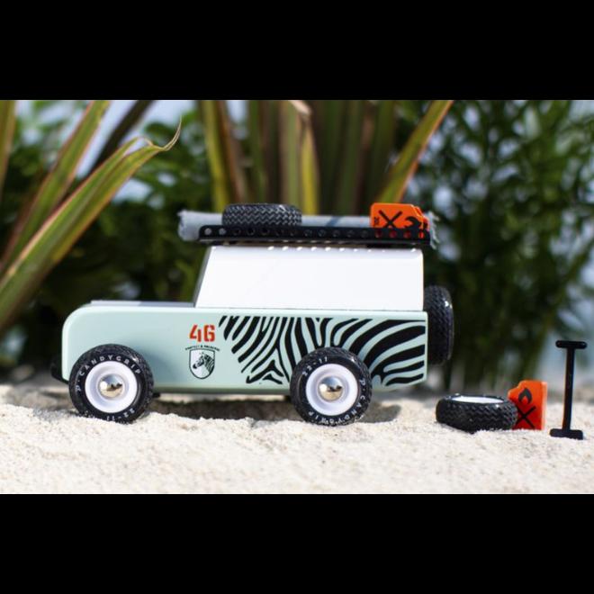 CANDYLAB - Houten Auto -  Drifter Sahara Zebra 3+