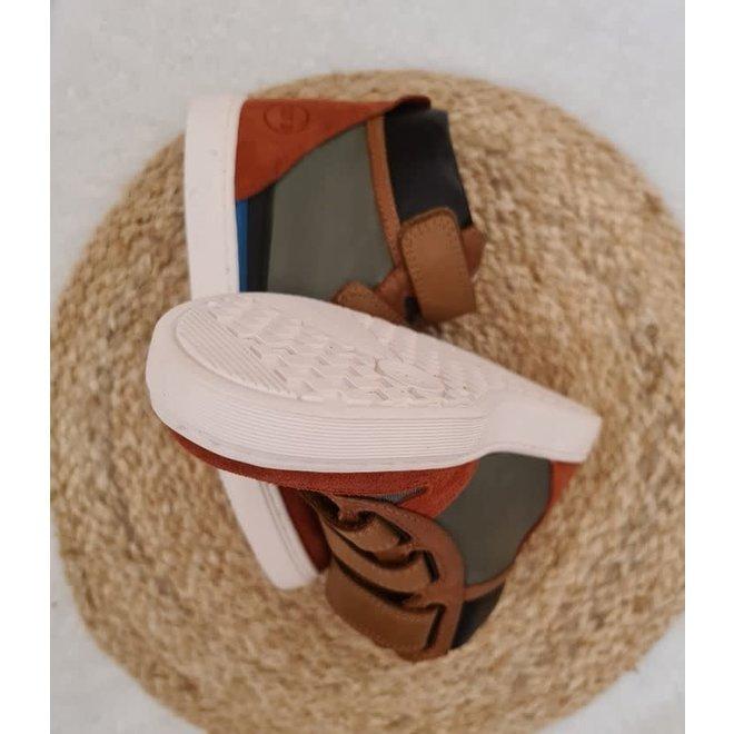 10IS - Sneaker -  Nylon Chip Munk Kaki/Black/Camel