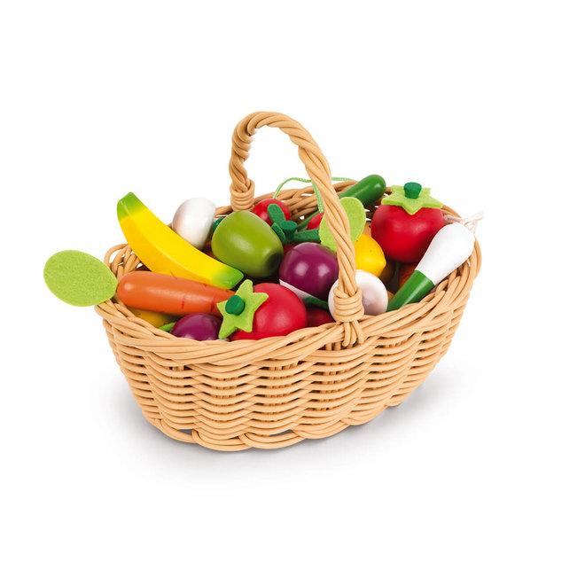 JANOD - Fruit - &Groenten mandje (24delig)