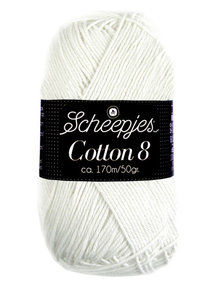 Scheepjes Cotton 8 - 502 - wit