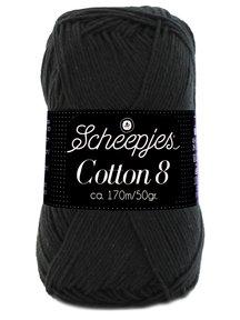 Scheepjes Cotton 8 - 515 - zwart