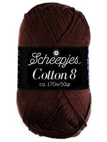 Scheepjes Cotton 8 - 657 - donker bruin