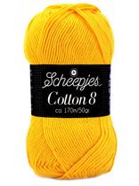 Scheepjes Cotton 8 - 714 - warm geel