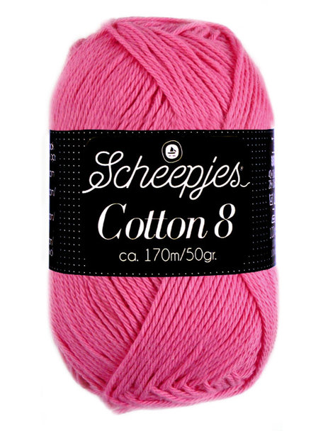 Scheepjes Cotton 8 - 719 - hot pink