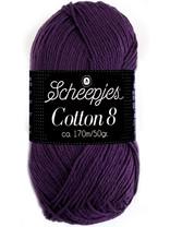 Scheepjes Cotton 8 - 721 - donker paars