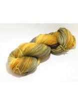"Sticks & Cups Socksanity - 100gram=420m 75% wol 25% nylon - ""Aurora Orange"""