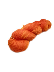 "Sticks & Cups Socksanity - 100gram=420m 75% wol 25% nylon - ""Pumpkin in the sunshine"""