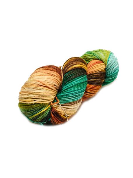 Sticks & Cups Pardis - Splendid Leaf Frog - 150g - 390m - 80% SW Merino 20% Polyamide - 4-6mm