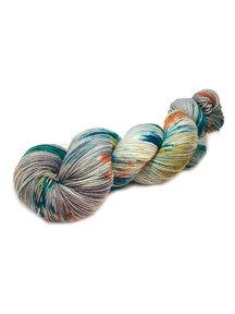 Mina Dyeworks Socksanity - 100gram=420m 75% wol 25% nylon - ''kukulkan''