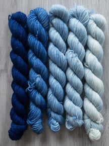 Sticks & Cups Balayage - Sky over Holland - 5x 20gr 75%BFL - 25% nylon - 400m