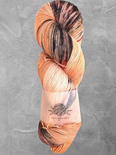 """Mina Dyeworks Mina Dyeworks Sock - """"Chinese Calligraphy"""""""