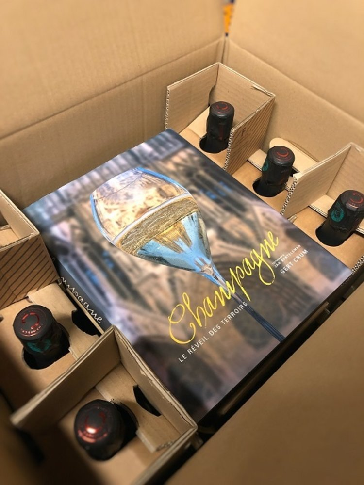 Christian Gosset Aktie Proefdoos Champagne Christian Gosset + boek Gert Crum