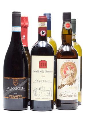 Culinair Kerst 6 flessen Italiaanse wijn