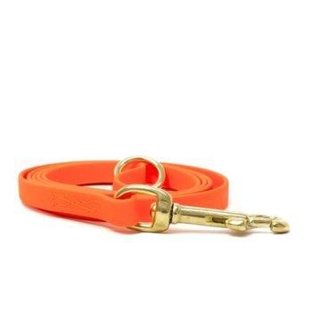 Biothane honden riem 9mm 1.2m Oranje