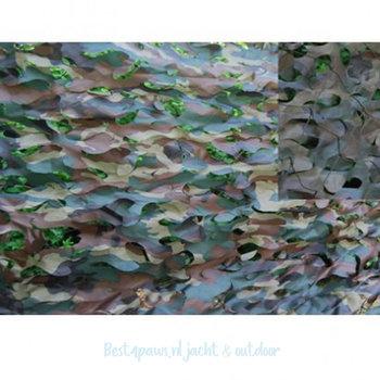 Camouflage net - nylon met versteviging net