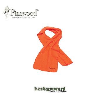 Pinewood Pinewood micro fleece sjaal blaze oranje
