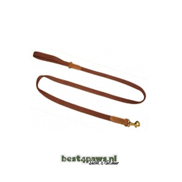 Niggeloh Niggeloh honden riem BASIC 180cm - 20mm bruin